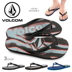 VOLCOM サンダル メンズ ROCKER 2 V0811887 2018春夏 ブラック/ブルー 26cm/27cm/28cm/29cm|3direct