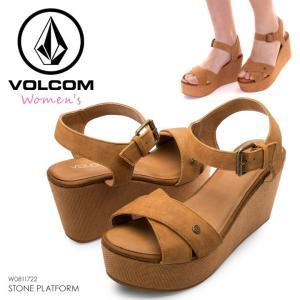 VOLCOM ビーチサンダル レディース STONE PLATFORM W0811722 2018春夏 ブラウン 23cm/24cm/25cm|3direct
