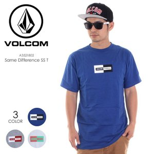 VOLCOM Tシャツ メンズ SAME DIFFERENCE S/S TEE A3521802 2018春夏 ブルー/グレー/ホワイト S/M/L|3direct