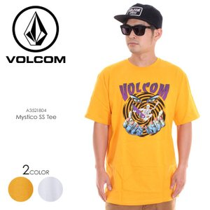 VOLCOM Tシャツ メンズ MYSTICO S/S TEE A3521804 2018春夏 イエロー/ホワイト S/M/L|3direct
