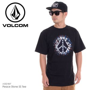 VOLCOM Tシャツ メンズ PEACE STONE S/S TEE A3521807 2018春夏 ブラック S/M/L|3direct