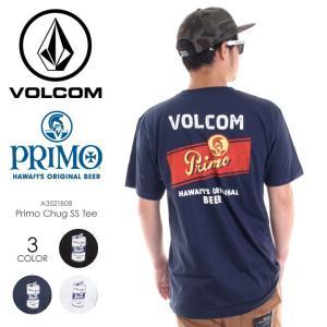 VOLCOM Tシャツ メンズ PRIMO CHUG S/S TEE A3521808 2018春夏 ブラック/ネイビー/ホワイト S/M/L|3direct