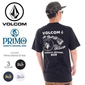 VOLCOM Tシャツ メンズ PRIMO ISLAND S/S TEE A3521809 2018春夏 ブラック/ネイビー/ホワイト S/M/L|3direct