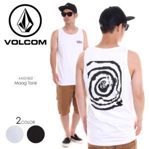 VOLCOM タンクトップ メンズ MAAG TANK A4521802 2018春夏 ブラック/ホワイト S/M/L|3direct
