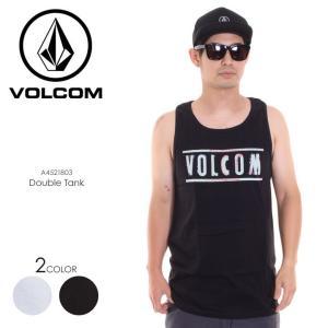 VOLCOM タンクトップ メンズ DOUBLE TANK A4521803 2018春夏 ブラック/ホワイト S/M/L|3direct