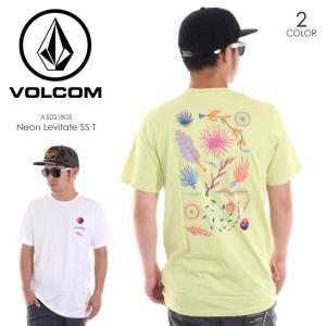 VOLCOM Tシャツ メンズ NEON LEVITATE S/S TEE A5021805 2018春夏 ライムグリーン/ホワイト S/M/L|3direct