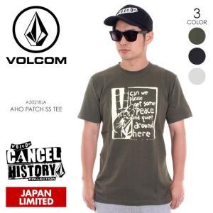 VOLCOM Tシャツ メンズ AHO PATCH S/S TEE A50218JA 2018春夏 ブラック/グリーン/ホワイト M/L/XL|3direct