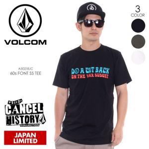 VOLCOM Tシャツ メンズ 60s FONT S/S TEE A50218JC 2018春夏 ブラック/グリーン/ホワイト M/L/XL|3direct