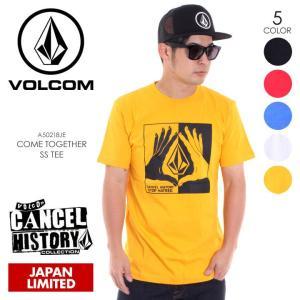 VOLCOM Tシャツ メンズ COME TOGETHER S/S TEE A50218JE 2018春夏 ブラック/レッド/ブルー/ホワイト/イエロー M/L/XL|3direct
