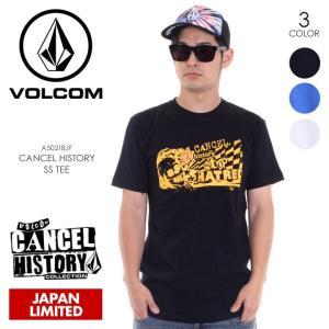 VOLCOM Tシャツ メンズ CANCEL HISTORY S/S TEE A50218JF 2018春夏 ブラック/ブルー/ホワイト M/L/XL|3direct