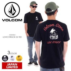 VOLCOM Tシャツ メンズ LOVE STRUCK S/S TEE A50218JL 2018春夏 ブラック/ホワイト/イエロー M/L/XL|3direct