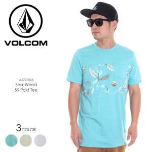 VOLCOM Tシャツ メンズ SEA-WEED SS PCKT TEE A5021806 2018春夏 ミントグリーン/ブルー/ホワイト S/M/L|3direct