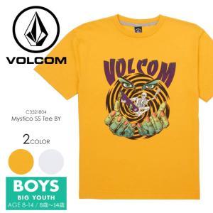 VOLCOM Tシャツ キッズ MYSTICO S/S TEE BIG YOUTH C3521804 2018春夏 ホワイト/イエロー 140cm/150cm/160cm|3direct