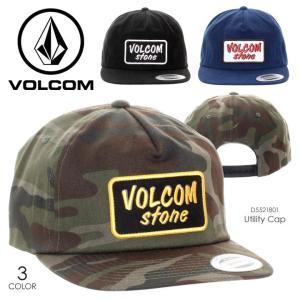 VOLCOM キャップ メンズ UTILITY CAP D5521801 2018春夏 ブラック/カモフラージュ/ネイビー フリーサイズ|3direct