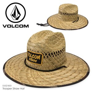 VOLCOM ハット メンズ TROOPER STRAW HAT D5521803 2018春夏 ナチュラル S-M/L-XL|3direct
