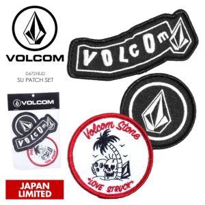 VOLCOM ワッペン SU PATCH SET D67218JD 2018春夏 ブラック/ホワイト|3direct