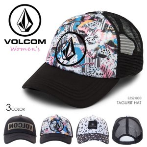 VOLCOM キャップ レディース TAGURIT HAT E5521800 2018春夏 ブラック/マルチカラー/ホワイト ワンサイズ|3direct