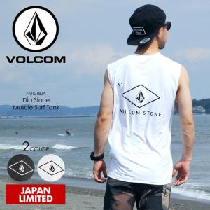 VOLCOM ラッシュガード メンズ DIA STONE MUSCLE SURF TANK N01218JA 2018春夏 チャコールブラック/ホワイト S/M/L/XL|3direct