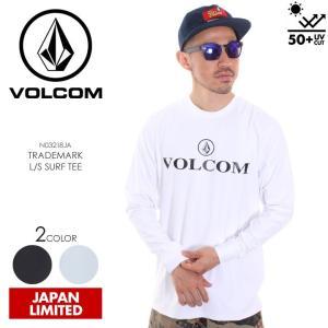 VOLCOM ラッシュガード メンズ TRADEMARK L/S SURF TEE N03218JA 2018春夏 ブラック/ホワイト S/M/L/XL|3direct