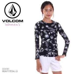 VOLCOM ラッシュガード レディース HEAVY PETAL LS O0321801 2018春夏 ブラック S/M|3direct