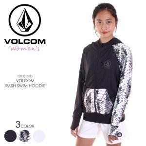 VOLCOM ラッシュガード レディース VOLCOM RASH SWIM HOODIE O03218JG 2018春夏 ブラック/マルチカラー/ホワイト S/M|3direct