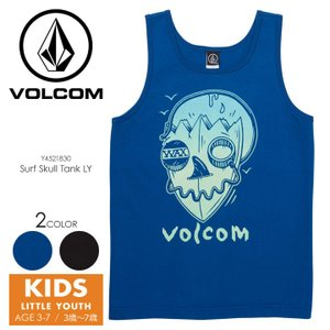 VOLCOM Tシャツ キッズ SURF SKULL TANK LITTLE YOUTH Y4521830 2018春夏 ブラック/ブルー 100cm/110cm/120cm/130cm/140cm|3direct