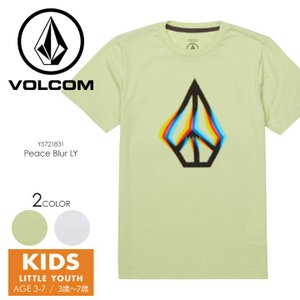 VOLCOM Tシャツ キッズ PEACE BLUR S/S TEE LITTLE YOUTH Y5721831 2018春夏 グリーン/ホワイト 100cm/110cm/120cm/130cm/140cm|3direct
