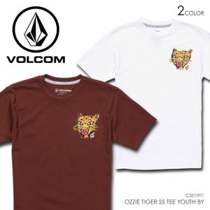 VOLCOM ボルコム Tシャツ キッズ OZZIE TIGER S/S TEE YOUTH BY C3511911|3direct