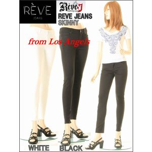 REVE JEANS LOS ANGELES リーブ ロスアンゼルス COLOR SKINNY PANTS 2Color(BLACK WHITE) カラー スキニー パンツ 2色黒白 スーパーストレッチパンツ|3love
