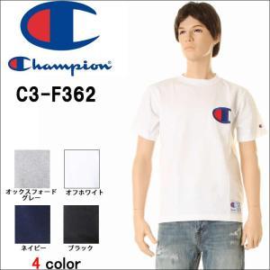 Champion チャンピオン C3-F362 Tシャツ 16SS アクションスタイル リチャンピオン 半袖 チャンピオン tシャツ ホワイトネイビー 3love