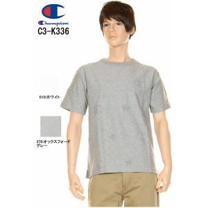 Champion チャンピオン C3-K336 メンズ Tシャツ 総柄 半袖tシャツ キャンパスシリーズ ロゴスター ホワイト オックスフォードグレー 3love