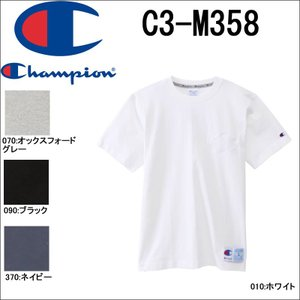 Champion チャンピオン C3-M358 Tシャツ 18SS アクションスタイル チャンピオン 半袖tシャツ ホワイト グレー ネイビー ブラック 3love