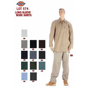 Dickies ディッキーズ LOT 574 DICKIES LONG SLEEVE WORK SHIRTS ロングスリーブ ワークシャツ 長袖シャツ 長袖 無地シャツ シャツ|3love