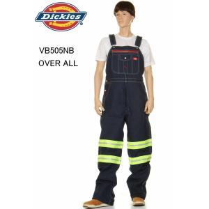 Dickies VB505NB IRREGULAR ディッキーズ オーバーオール INDIGO BIB OVERALL NAVY BLUE RIGID リジット ネイビー裾上無料|3love