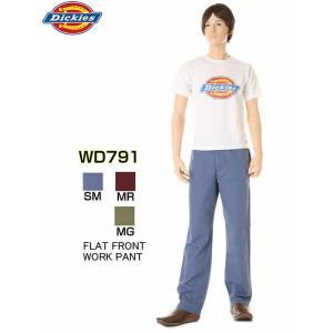 Dickies ディッキーズ WD791 FLAT FRONT WORK PANTS ラスティ リラックス メンズ ボトムス ストレート ミドルライズ オリジナル フィット ワークパンツ|3love