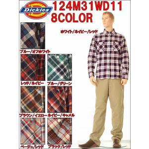 DickiesB.D SHIRTS ボタンダウンチェックネルシャツ LOT 124M31WD11 カラー8色|3love
