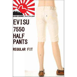 EVISU JEANS エヴィスジーンズ ハーフパンツ EVC-7550WH-001 HALF PANTS ショートパンツ カモメホワイトマーク 3love