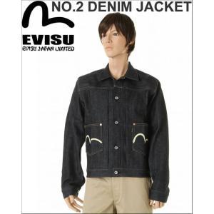 EVISU JEANS エヴィスジーンズ NO.2 デニム No2 2nd タイプ デニム ジャケット ホワイトマーク カモメevisu|3love