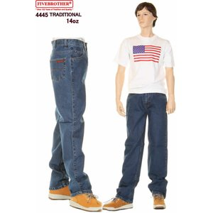FIVE BROTHER 4445-45 HEAVY 14oz 5POCKT JEANS ファイブブラザー 14オンス デニム ジーンズ TRADITIONAL FIT STRAIGHT|3love