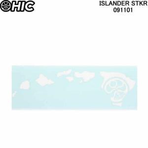 HIC エイチアイシー ステッカー(大)ISLANDER STKR ASSORTED 091101 HICドットマーク ハワイ諸島ステッカーシール|3love