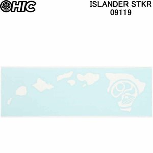 HIC エイチアイシー ステッカー(小)ISLANDER STKR ASSORTED 091119 HICドットマーク ハワイ諸島ステッカーシール|3love