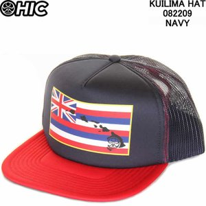 HIC エイチアイシー 082209 KUILIMA HAT NAVY HAWAIIAN ISLAND CREATIONS ENJOY THE RIDE|3love