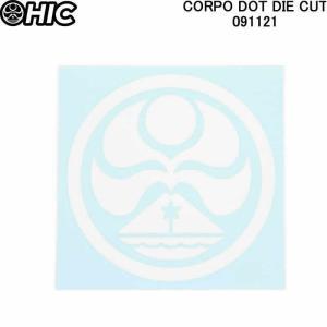 HIC エイチアイシー ステッカーシール CORPO DOT DIE CUT 091121 HICドットマーク ハワイ諸島ステッカーシール ステッカー|3love