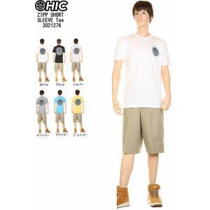 HIC エイチアイシー Tシャツ ZIPP SHORT SLEEVE TEE 3021276 HICドットマーク ハワイ諸島 ハワイアンtシャツ hic|3love