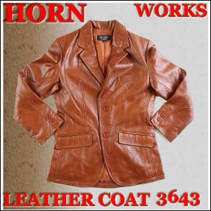 HORN WORKS 革ジャン LEATHER COAT ホーンワークスレザー ジャケット・コート LOT 3643(コニャック)COGNAC ジャンパー・ブルゾン・コート|3love