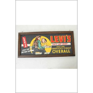 Levi Strauss & Co San Francisco,California リーバイス プレミアム サインボード バナー レア品|3love