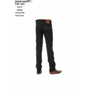 PEOPLE FOR PEACE XXJEANS MADE IN USALOT P4P-S02 001 BLACK RIGID (リジット)SLIM FIT STRAIGHT ピープル フォア ピース|3love