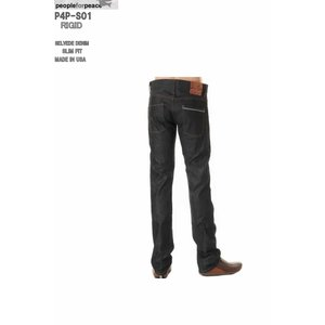 PEOPLE FOR PEACE XXJEANS MADE IN USALOT P4P-S01 018 INDIGO RIGID (リジット)SLIM FIT STRAIGHT|3love