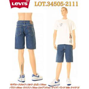 Levi's34505-2111 デニムショーツ ハーフパンツ オリジナルジップフライ ストレートフィット(ミディアムウォッシュ) 1023max10|3love