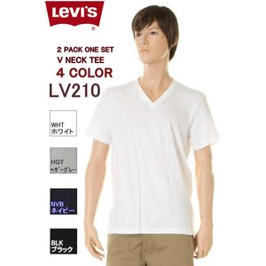 Levi's Wear Tee Shirts リーバイス  Tシャツ VNECK T-SHIRT 2Pack LV210 3COLOR ブイネックTシャツ|3love